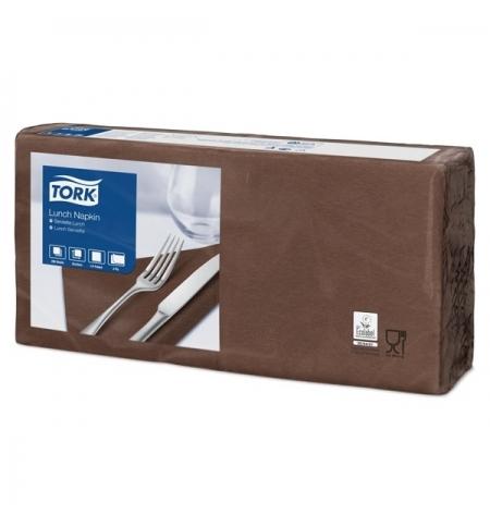 фото: Салфетки сервировочные Tork Advanced коричневые 33х33см, 2 слоя, 200шт, 477208