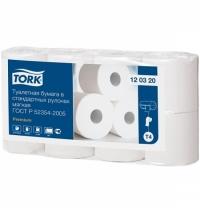 Туалетная бумага Tork Premium T4 120320, 2 слоя, белая, 8 рулонов