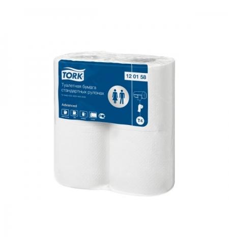 фото: Туалетная бумага Tork Advanced T4 120158, 2 слоя, белая, 4 рулона