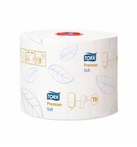 Туалетная бумага Tork Premium T6 127520, в рулоне, 90м, 2 слоя, белая