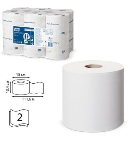 фото: Туалетная бумага Tork Advanced T9 472193, в рулоне с центральной вытяжкой, 112м, 2 слоя, белая