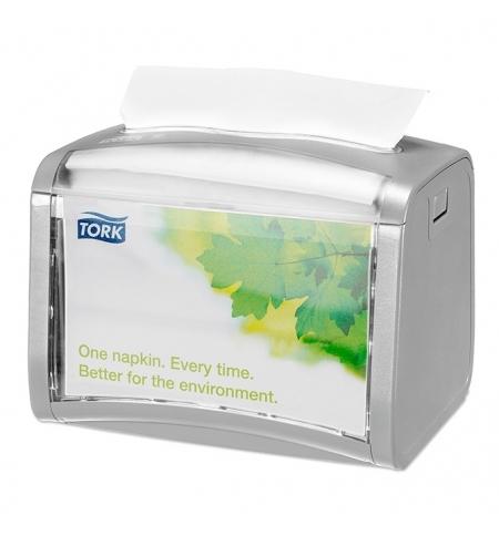 фото: Диспенсер для салфеток Tork Xpressnap N4 272613, настольный, на 200шт, серый