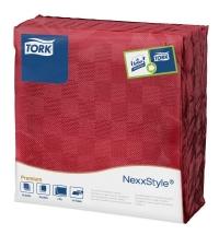 Салфетки сервировочные Tork Premium красные, 39х38см, 2 слоя, 50шт, 478789