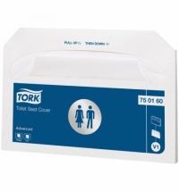 фото: Индивидуальные покрытия на унитаз Tork Advanced V1, 750160, белые, 250шт