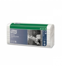 Протирочные салфетки Tork нетканые W4, 473178, листовые, для масла и жира, 80шт, 1 слой, белые