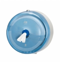 фото: Диспенсер для туалетной бумаги в рулонах Tork Wave T8, 472024, с центральной вытяжкой, синий