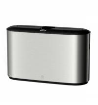 Диспенсер для полотенец листовых Tork Image Design H2 460005, настольный, металлик