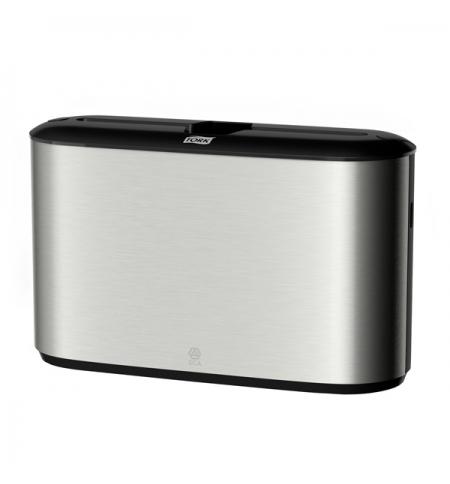 фото: Диспенсер для полотенец листовых Tork Image Design H2 460005, настольный, металлик