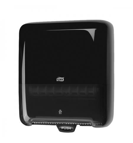 фото: Диспенсер для полотенец в рулонах Tork Elevation H1 551008 черный, 33.7х37х20см